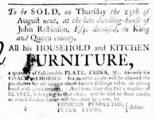 Jul 28 - Virginia Gazette Purdie and Dixon Slavery 4