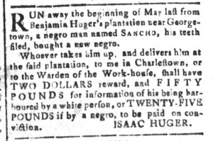 Jul 29 - South Carolina and American General Gazette Slavery 10
