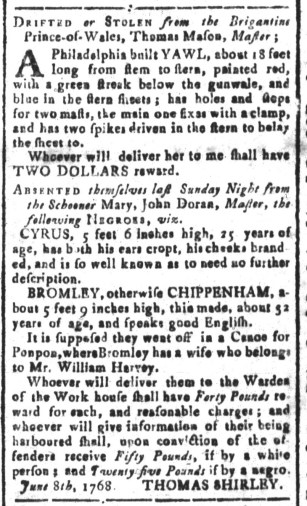 Jul 29 - South Carolina and American General Gazette Slavery 5