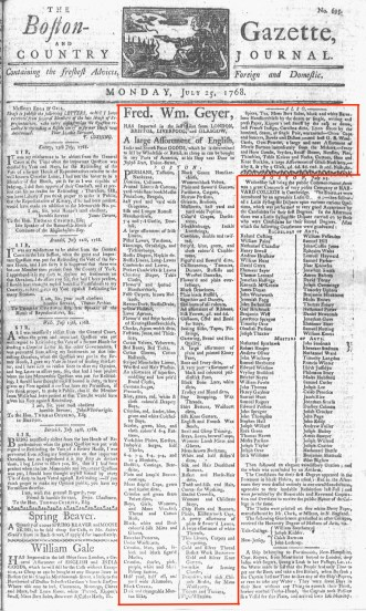 Jul 31 - 7:25:1768 Boston-Gazette
