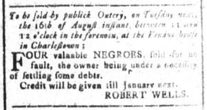 Aug 12 - South-Carolina and American General Gazette Slavery 4