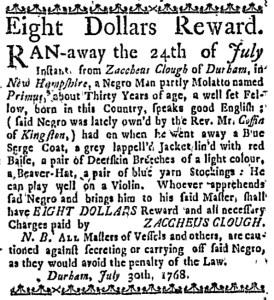 Aug 18 - Boston Weekly News-Letter Slavery 2