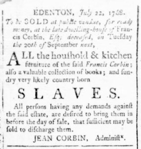 Aug 18 - Virginia Gazette Rind Slavery 2