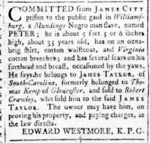 Aug 18 - Virginia Gazette Rind Slavery 3