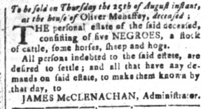 Aug 19 - South-Carolina and American General Gazette Slavery 8