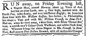 Aug 22 - New-York Gazette Weekly Post-Boy Slavery 1