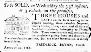 Aug 25 - Virginia Gazette Purdie and Dixon Slavery 1