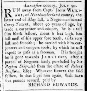 Aug 25 - Virginia Gazette Rind Slavery 6