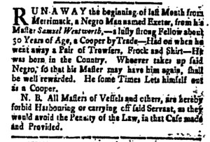 Aug 26 - New-Hampshire Gazette Slavery 1