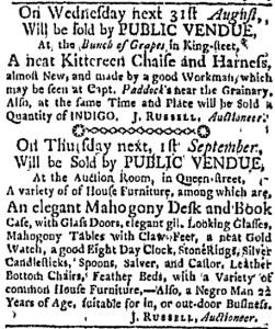 Aug 29 - Boston Evening-Post Slavery 1