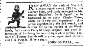 Aug 30 - South-Carolina Gazette and Country Journal Supplement Slavery 3