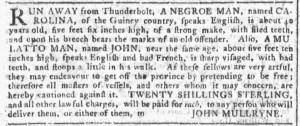 Aug 31 - Georgia Gazette Slavery 4