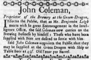 Aug 7 - 8:4:1768 Boston Weekly News-Letter