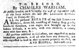Sep 13 - South-Carolina Gazette and Country Journal Slavery 3