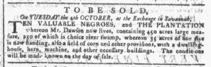 Sep 14 - Georgia Gazette Slavery 2