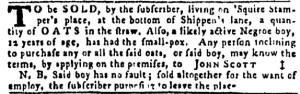 Sep 15 - Pennsylvania Gazette Slavery 1