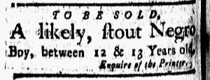 Sep 16 - New-London Gazette Slavery 1