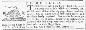 Sep 21 - 9:21:1768 Georgia Gazette