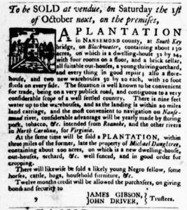 Sep 29 - Virginia Gazette Purdie and Dixon Slavery 11
