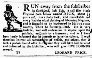 Sep 29 - Virginia Gazette Purdie and Dixon Slavery 12