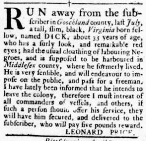 Sep 29 - Virginia Gazette Rind Slavery 12