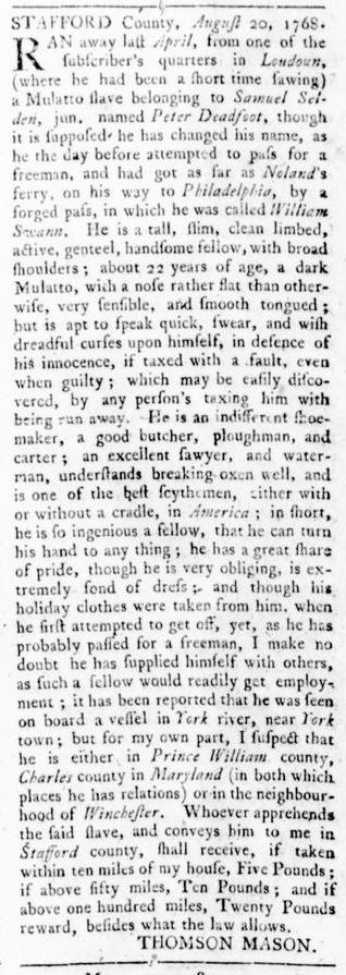 Sep 29 - Virginia Gazette Rind Slavery 5