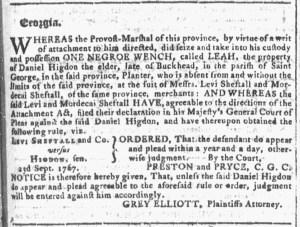 Sep 7 - Georgia Gazette Slavery 3