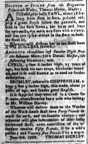 Sep 9 - South-Carolina and American General Gazette Slavery 3