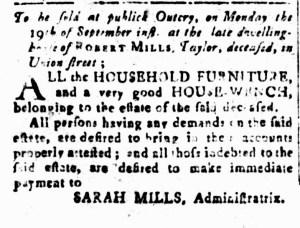 Sep 9 - South-Carolina and American General Gazette Slavery 4