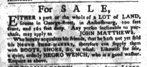 Nov 1 - South-Carolina Gazette and Country Journal Slavery 9