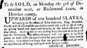 Nov 10 - Virginia Gazette Purdie and Dixon Slavery 2
