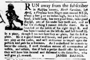 Nov 10 - Virginia Gazette Purdie and Dixon Slavery 7