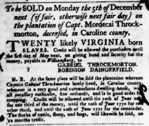 Nov 17 - Virginia Gazette Purdie and Dixon Slavery 10