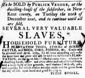 Nov 17 - Virginia Gazette Purdie and Dixon Slavery 3