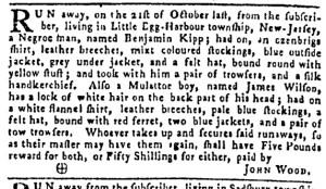 Nov 3 - Pennsylvania Gazette Slavery 1