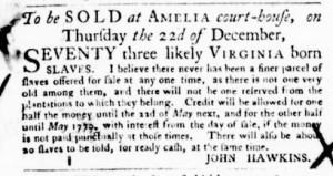 Nov 3 - Virginia Gazette Purdie and Dixon Slavery 4