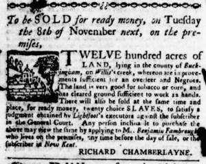 Nov 3 - Virginia Gazette Purdie and Dixon Slavery 9