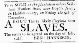 Nov 3 - Virginia Gazette Rind Slavery 6