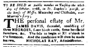 Oct 10 - South-Carolina Gazette Slavery 2