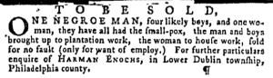 Oct 13 - Pennsylvania Gazette Supplement Slavery 3