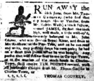 Oct 17 - South-Carolina Gazette Slavery 1