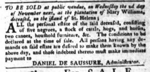 Oct 18 - South-Carolina Gazette and Country Journal Slavery 2