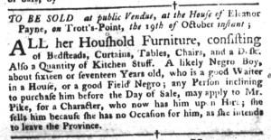 Oct 18 - South-Carolina Gazette and Country Journal Slavery 8
