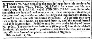 Oct 19 - Georgia Gazette Slavery 3