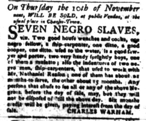 Oct 24 - South-Carolina Gazette Slavery 2