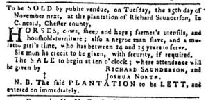 Oct 27 - Pennsylvania Gazette Postscript Slavery 1