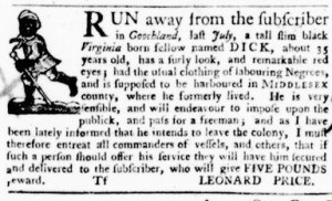 Oct 27 - Virginia Gazette Purdie and Dixon Supplement Slavery 8