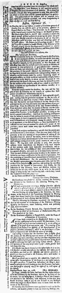 Oct 3 - 10:3:1768 New-York Gazette Weekly Mercury