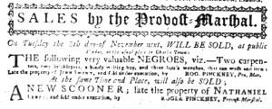 Oct 31 - South-Carolina Gazette Slavery 2