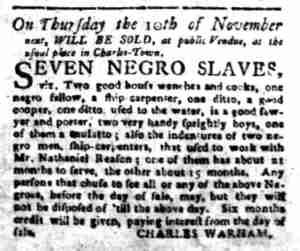 Oct 31 - South-Carolina Gazette Slavery 5